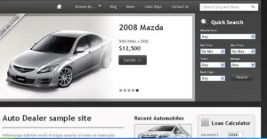 Auto Dealer Sample website